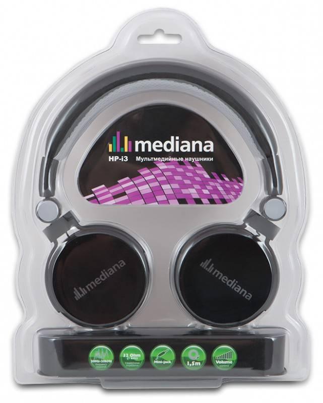 Наушники с микрофоном Mediana HP-i3 черный - фото 6