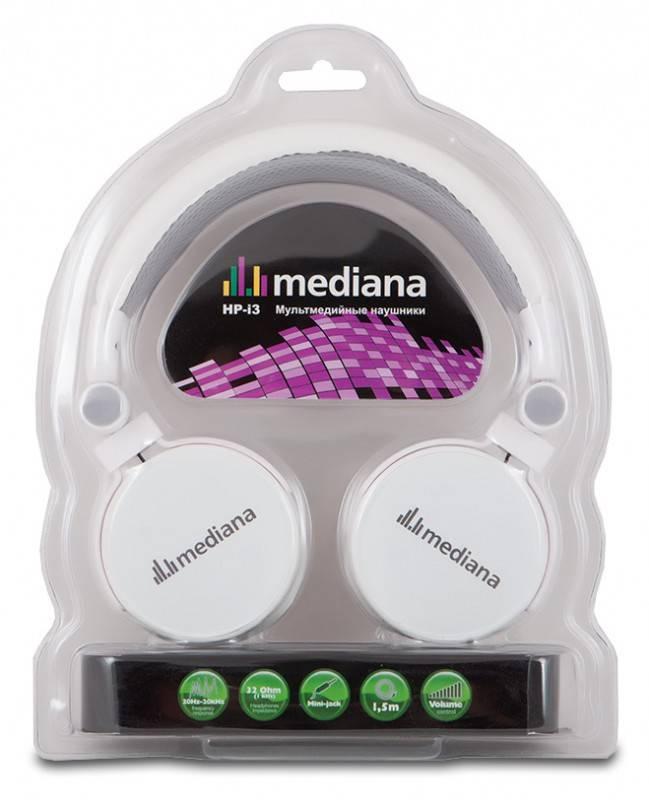 Наушники с микрофоном Mediana HP-i3 белый - фото 6