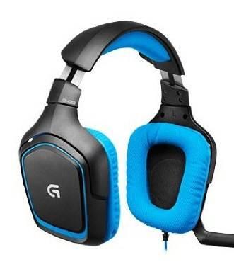 Наушники с микрофоном Logitech G430 черный/голубой - фото 1