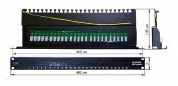 "Патч-панель Lanmaster TWT-PP25TEL45 19"" 1U 25xRJ-12"