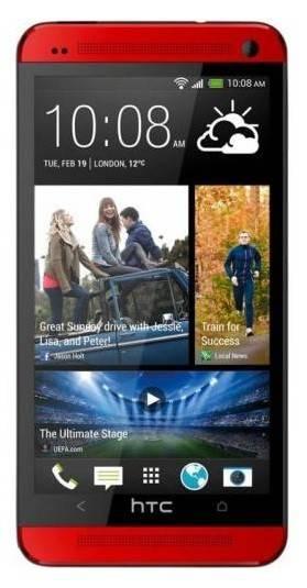 Смартфон HTC One красный - фото 1