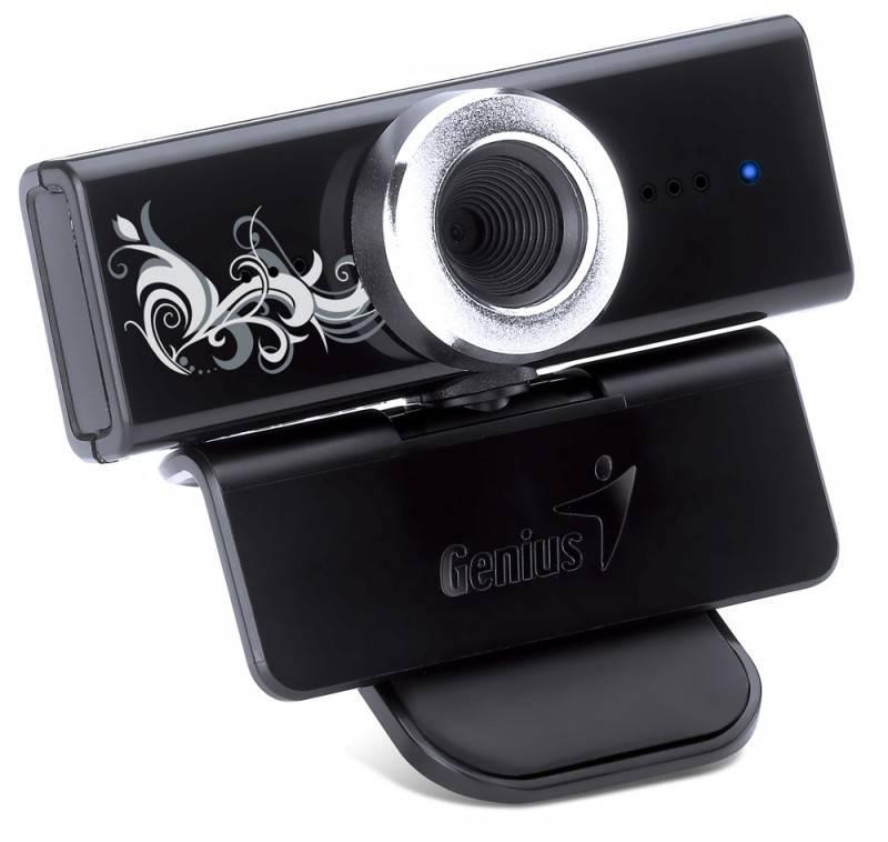 Камера Web Genius FaceCam 1000 Tattoo черный - фото 1