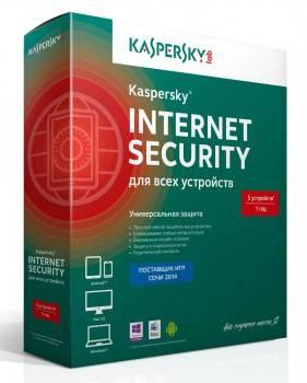 ПО Kaspersky Internet Security Multi-Device Russian Ed 5 устройств 1 год Base Box (KL1941RBEFS)