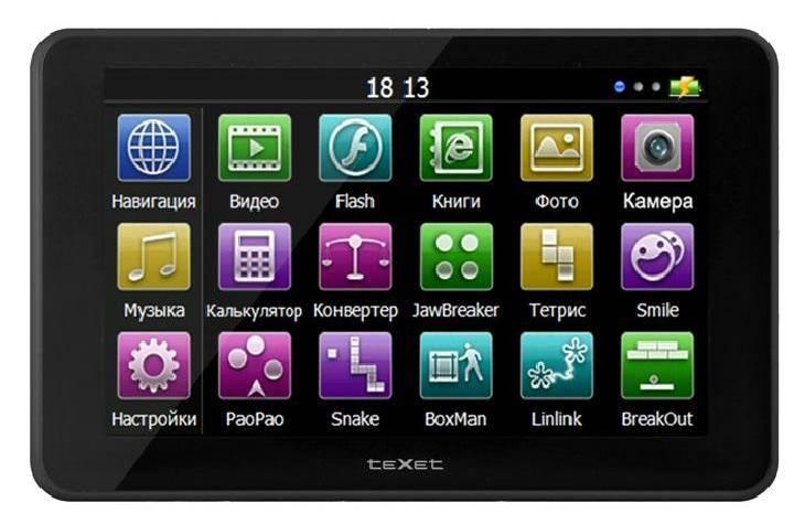 "GPS-навигатор Texet TN-522 5"" черный - фото 1"
