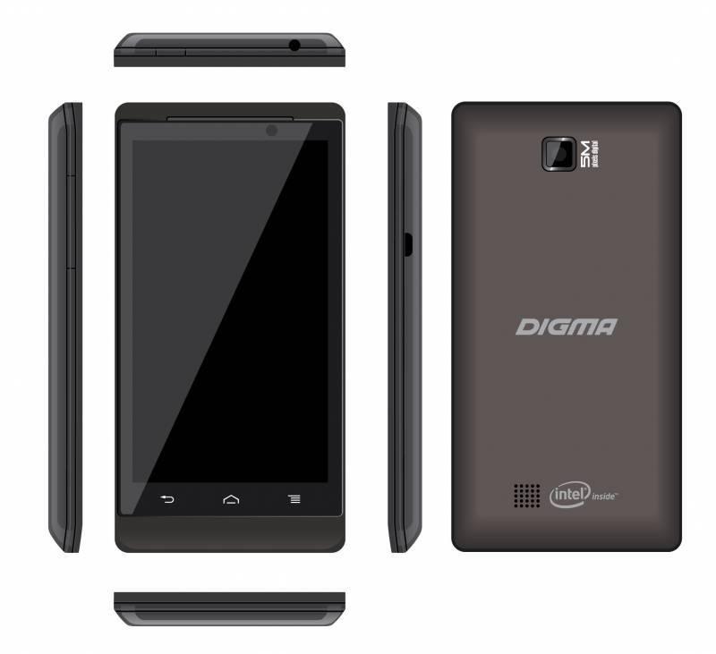 Смартфон Digma Linx 4.5 PT452E 4ГБ черный - фото 2