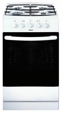 Плита комбинированная Hansa FCMW68020 белый, эмалированная крышка