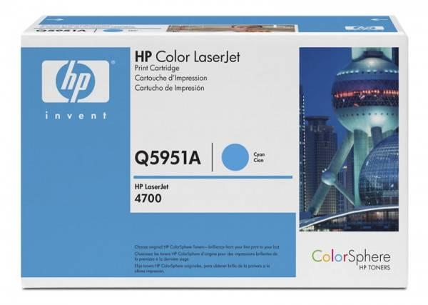 Тонер Картридж HP Q5951A голубой - фото 1