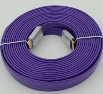 ������ Ver.1.4 FLAT Purple jack HDMI19 (m) / HDMI19 (m)10�.