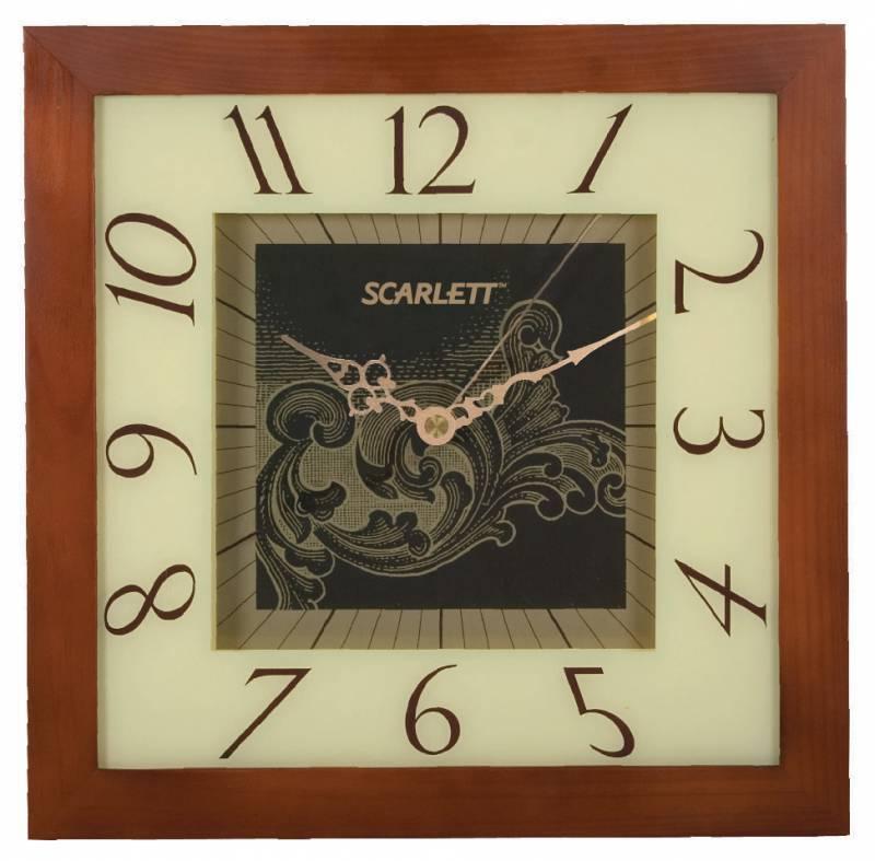 Настенные часы Scarlett SC-33C аналоговые бежевый - фото 1