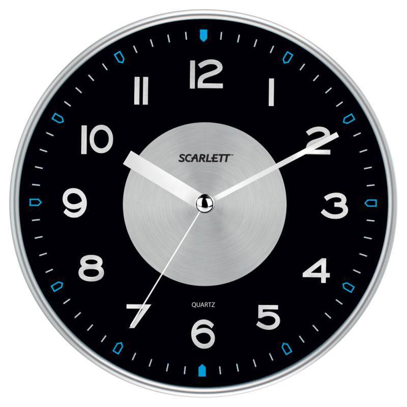 Настенные часы Scarlett SC-55E аналоговые - фото 1