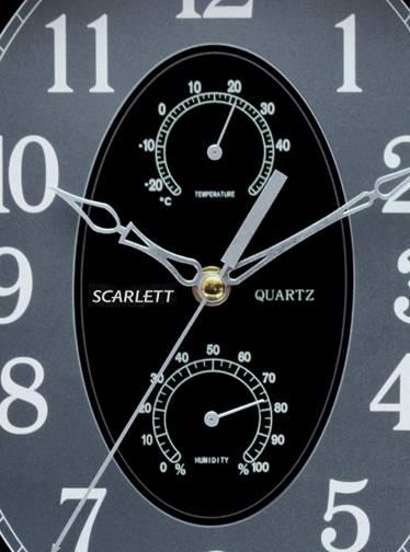 Настенные часы Scarlett SC-55L аналоговые - фото 2