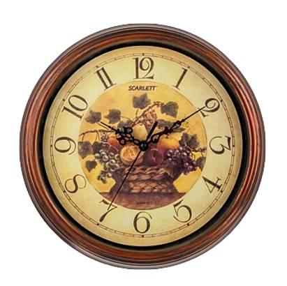 Настенные часы Scarlett SC-25L аналоговые - фото 1