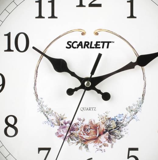 Настенные часы Scarlett SC-25Q аналоговые - фото 2