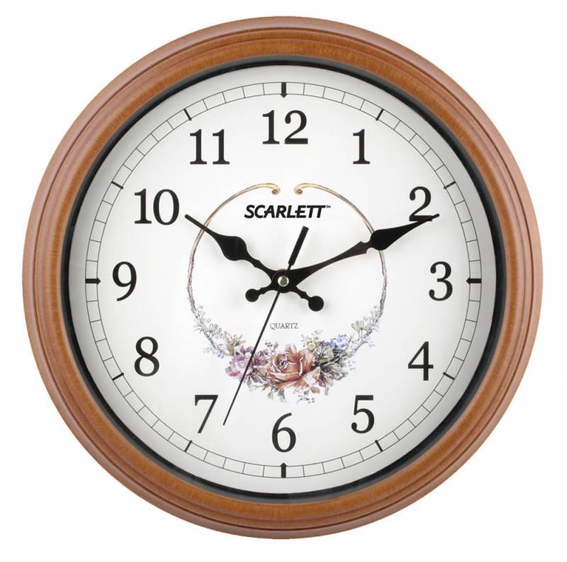Настенные часы Scarlett SC-25Q аналоговые - фото 1