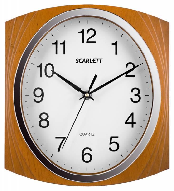Настенные часы Scarlett SC-55RB аналоговые - фото 1