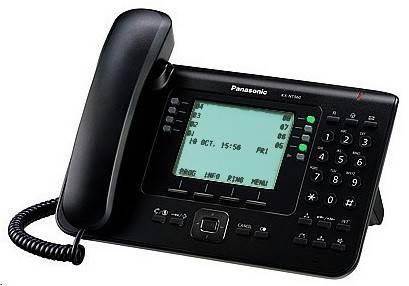 Телефон IP Panasonic KX-NT560RU-B черный - фото 1