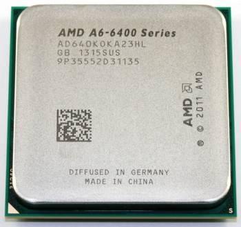 Процессор AMD A6 6400K Socket-FM2 OEM (AD640KOK23HL)