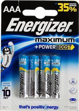 Батарея AAA Energizer Maximum LR03 / E92 FSB4 (4шт)