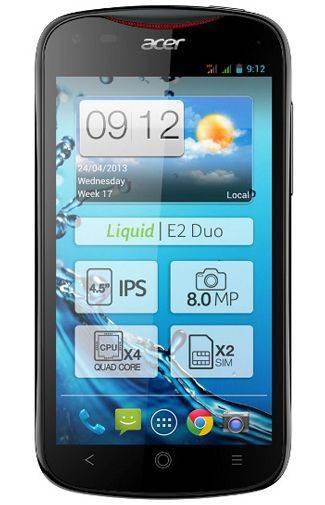 Смартфон Acer Liquid E2 Duo V370 4ГБ черный - фото 1