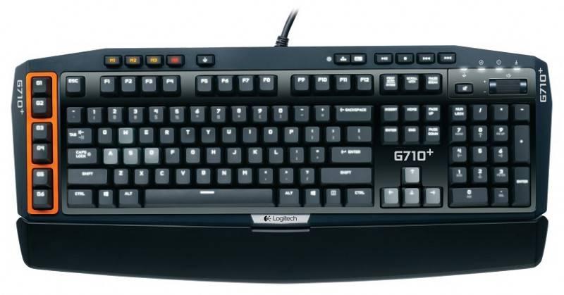 Клавиатура Logitech G710+ серый/черный - фото 1