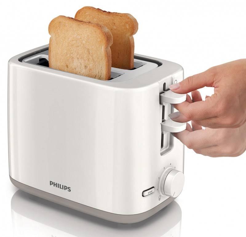 Тостер Philips HD2595 белый - фото 4