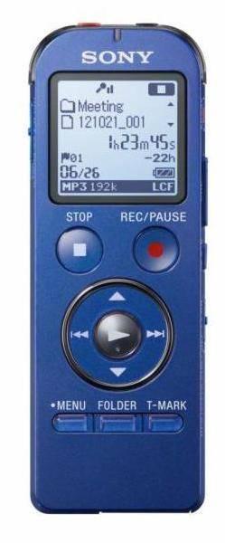 Диктофон 4Gb Sony ICDUX533L.CE7 синий - фото 1