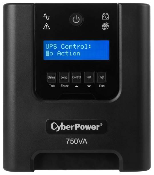 ИБП Cyberpower PR750ELCDRT1U 500Вт черный - фото 2