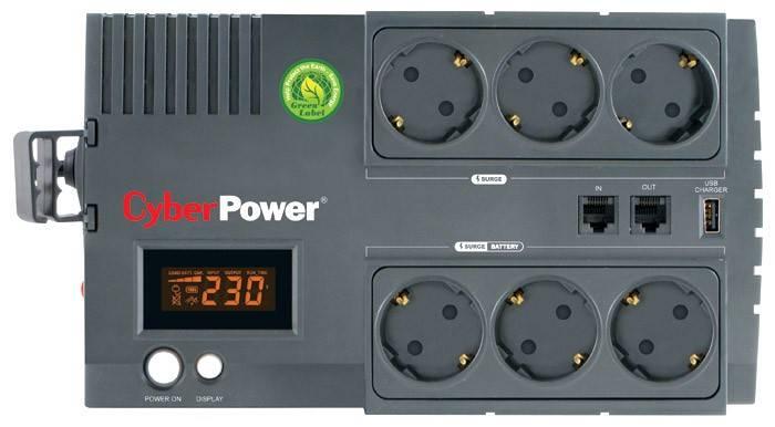 ИБП Cyberpower BR850ELCD 510Вт черный - фото 1