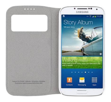 Чехол GGMM для Galaxy S 4 Window-S4 белый (SX02202) - фото 5