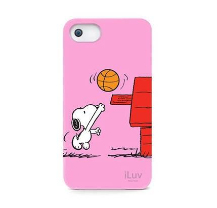 Чехол iLuv для iPhone5 Snoopy Sports Series pink жёсткий пластик (ICA7H383PNK) - фото 1