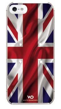 Чехол (клип-кейс) White Diamonds Flag UK красный/синий - фото 1