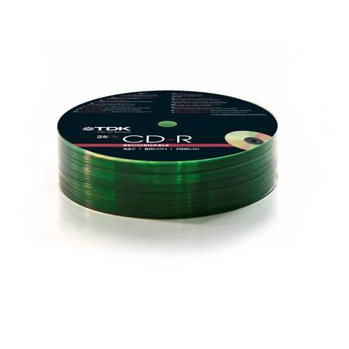 Диск CD-R TDK 700Mb 52x (25шт) (T78647) - фото 1