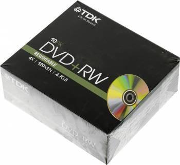 Диск DVD+RW TDK 4.7Gb 4x (10шт) (T19522)