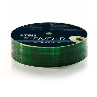 Диск DVD+R TDK 4.7Gb 16x (25шт) (T78649) - фото 1