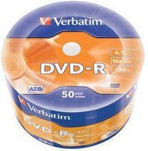 Диск DVD-R Verbatim 4.7Gb 16x (50шт) (43788) - фото 1