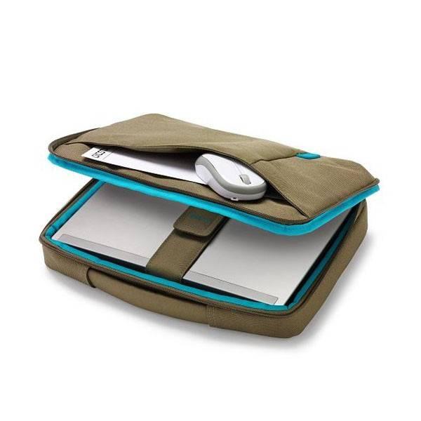 "Сумка для ноутбука 14.1"" Dicota Bounce Slim зеленый/синий - фото 2"