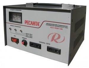 Стабилизатор напряжения Ресанта АСН-1500 / 1-ЭМ серый