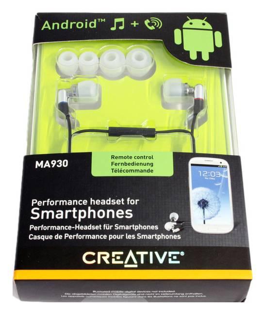 Наушники с микрофоном Creative MA930 серебристый/черный - фото 2
