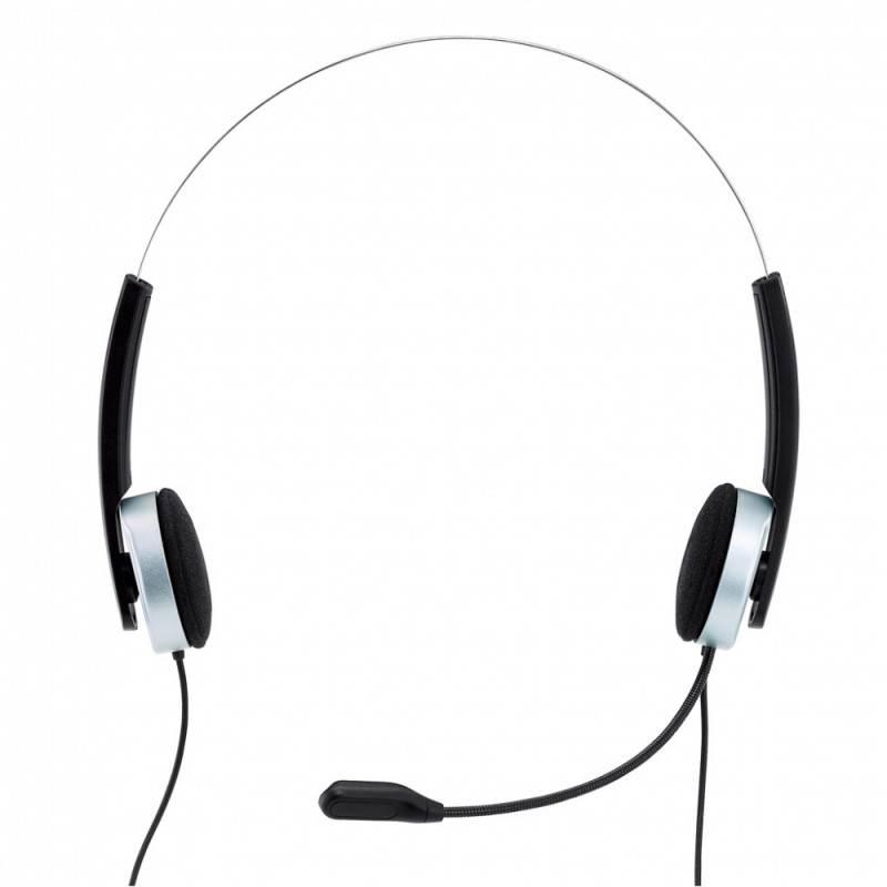 Наушники с микрофоном Genius HS-210U черный/белый - фото 2