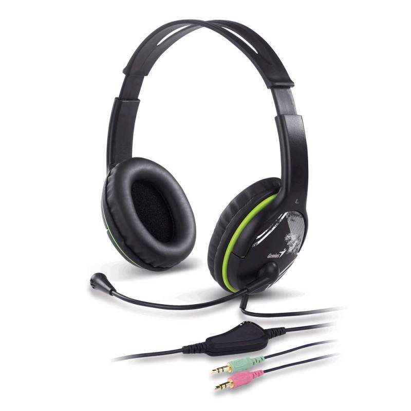 Наушники с микрофоном Genius HS-400X черный - фото 1