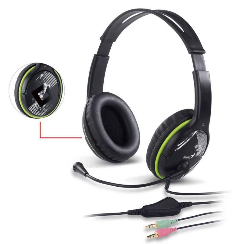 Наушники с микрофоном Genius HS-400X черный - фото 3
