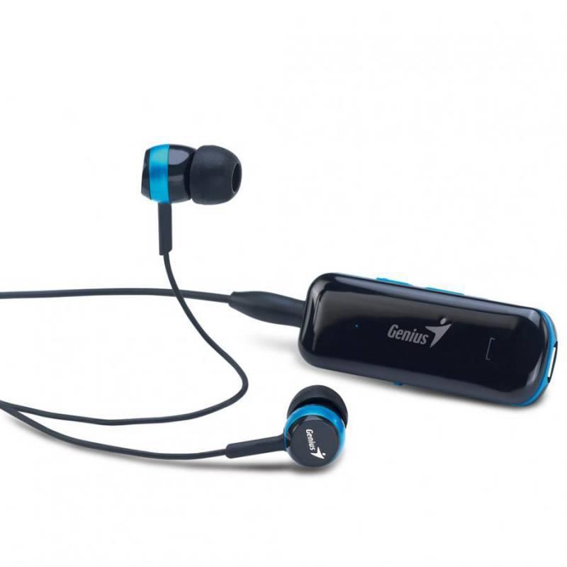 Наушники с микрофоном Genius HS-905BT черный/синий - фото 1