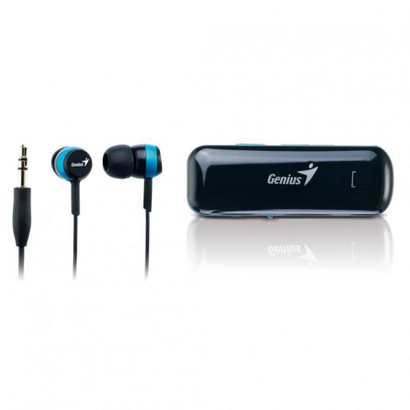 Наушники с микрофоном Genius HS-905BT черный/синий - фото 2