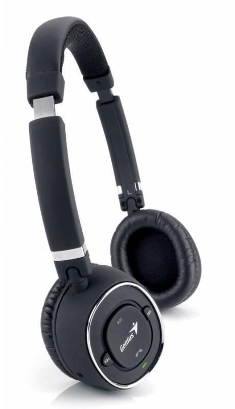 Наушники с микрофоном Genius HS-980BT черный - фото 1