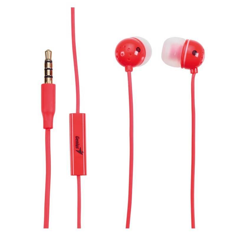 Наушники с микрофоном Genius HS-M210 розовый - фото 3