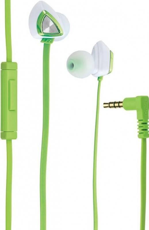 Наушники с микрофоном Genius HS-M250 зеленый - фото 1