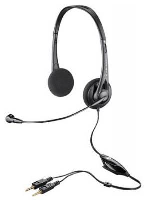 Наушники с микрофоном Plantronics Audio 326 черный - фото 1