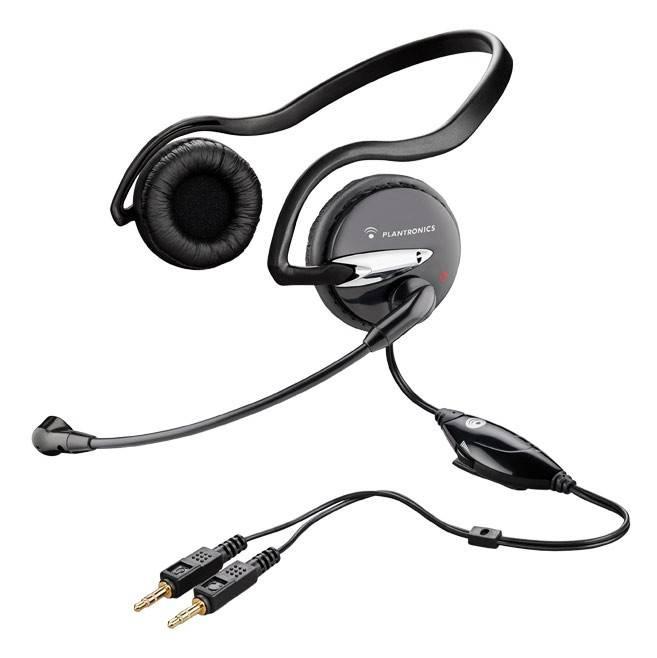 Наушники с микрофоном Plantronics A345 черный (37855-02) - фото 1