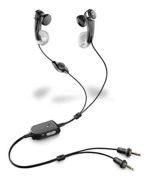 Наушники с микрофоном Plantronics A440 черный - фото 1