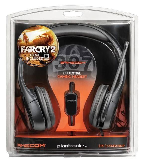 Наушники с микрофоном Plantronics Gamecom GC307 черный - фото 2
